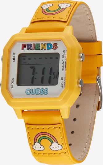 GUESS Uhr in goldgelb / mischfarben / weiß, Produktansicht