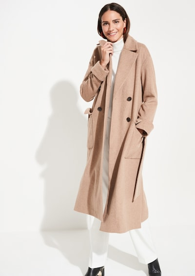COMMA Mantel in beige, Modelansicht
