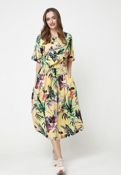 Madam-T Sommerkleid 'CAMUS' in gelb, Modelansicht