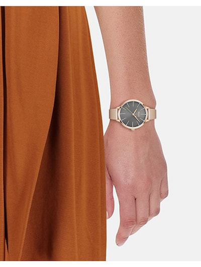 BOSS Casual Analog Watch in Rose gold / Silver: Frontal view