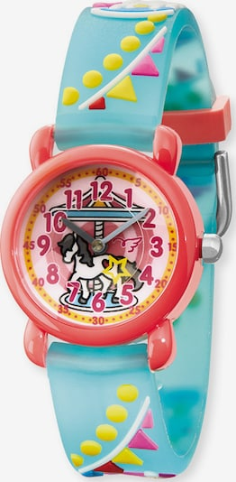 Engelsrufer Uhr in blau / gelb / rot, Produktansicht