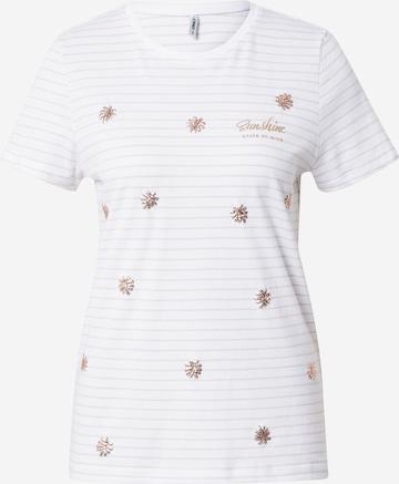 ONLY - Camiseta 'KITA' en blanco