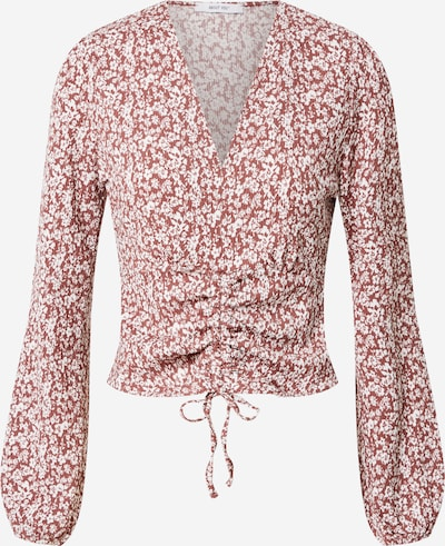 ABOUT YOU Shirt 'Danai' in rostrot / weiß, Produktansicht