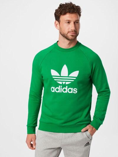ADIDAS ORIGINALS Sweatshirt in grün / weiß: Frontalansicht