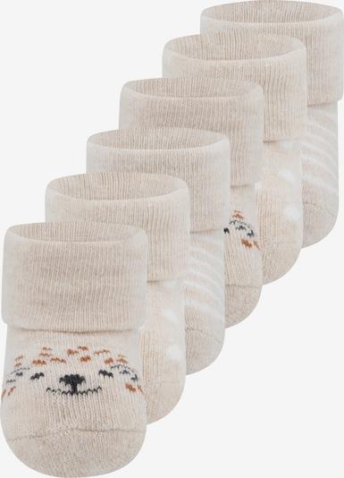 EWERS Socken - (GOTS) in beige / dunkelblau / braun / naturweiß, Produktansicht