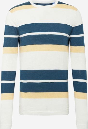 JACK & JONES Pulover u nebesko plava / pastelno žuta / bijela melange, Pregled proizvoda