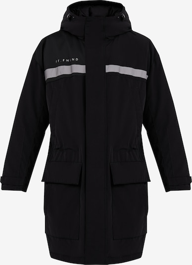 Finn Flare Kurzmantel in grau / schwarz, Produktansicht