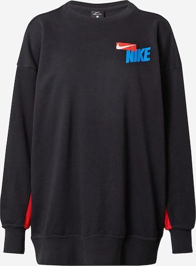 NIKE Sportsweatshirt in himmelblau / rot / schwarz / weiß, Produktansicht