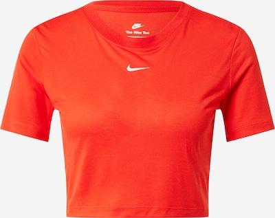 Nike Sportswear T-Shirt in orangerot / weiß, Produktansicht