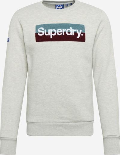 Superdry Sweatshirt in türkis / graumeliert / schwarz / weiß, Produktansicht