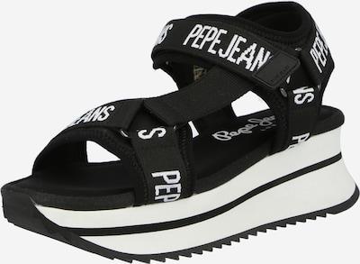 Pepe Jeans Сандали с каишка 'FUJI' в черно / бяло, Преглед на продукта