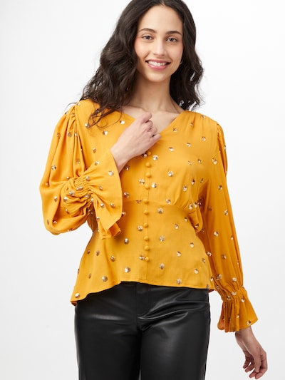 Traffic People Blouse in de kleur Safraan / Goud, Modelweergave