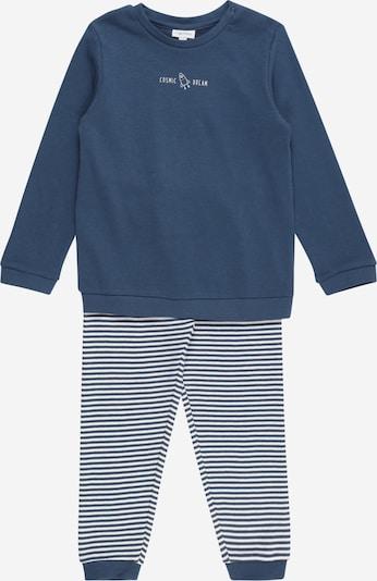 OVS Schlafanzug in taubenblau / weiß, Produktansicht