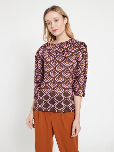 Ana Alcazar Bluse ' Barla ' in braun / lila / orange, Modelansicht