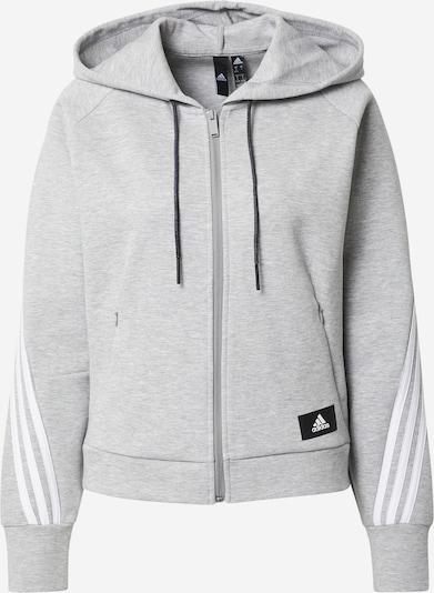 Bluză cu fermoar sport ADIDAS PERFORMANCE pe gri amestecat / negru / alb, Vizualizare produs