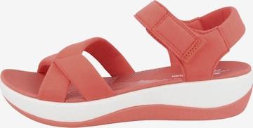 CLARKS Sandale ' Arla Gracie ' in Rot