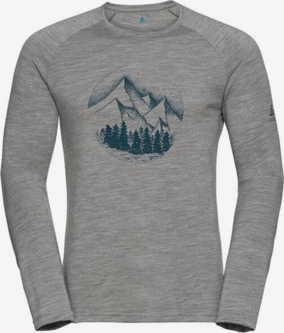 ODLO Shirt  'ALLIANCE' in graumeliert / smaragd, Produktansicht