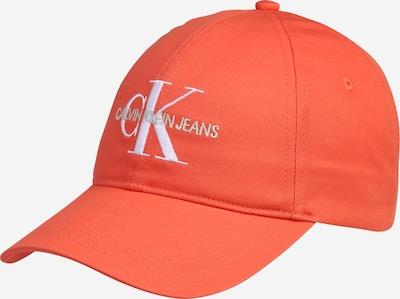 Calvin Klein Jeans Casquette en orange foncé / blanc, Vue avec produit