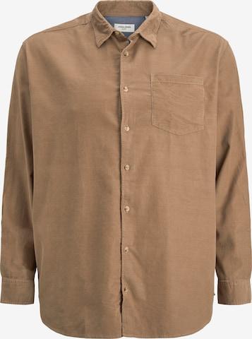Jack & Jones Plus Hemd 'Kendrick' in Beige