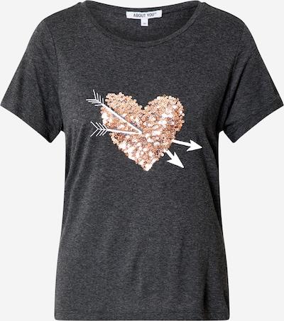 Maglietta 'Abby Shirt' ABOUT YOU di colore antracite / rosa, Visualizzazione prodotti