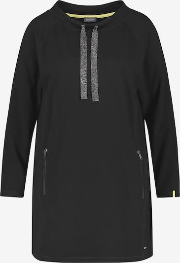 SAMOON Langes Sweatshirt in schwarz, Produktansicht