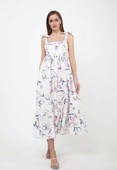 Madam-T Sommerkleid 'RAMIRA' in rosa / weiß, Modelansicht