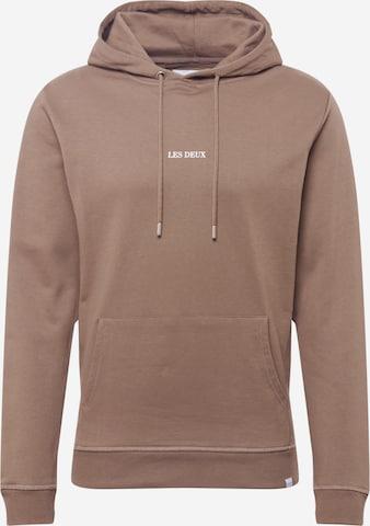 Les Deux Sweatshirt 'Lens' in Brown