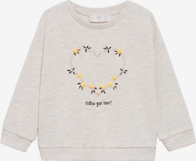 Bluză de molton MANGO KIDS pe bej / culoarea pielii, Vizualizare produs