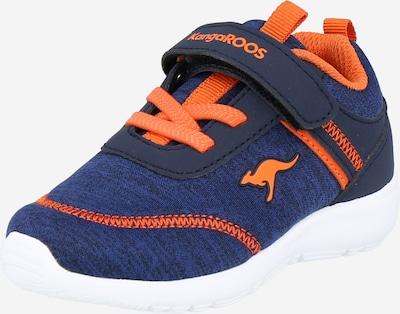KangaROOS Sneaker in navy / blaumeliert / orange, Produktansicht