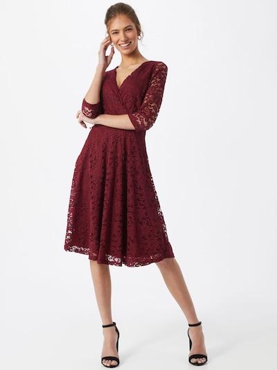 Mela London Kleid in bordeaux, Modelansicht