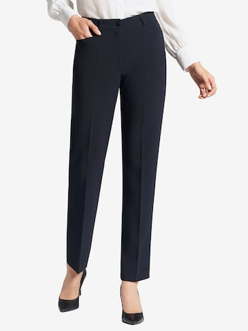 Basler Pleated Pants in Blue