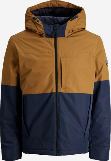 JACK & JONES Jacke in dunkelblau / braun, Produktansicht