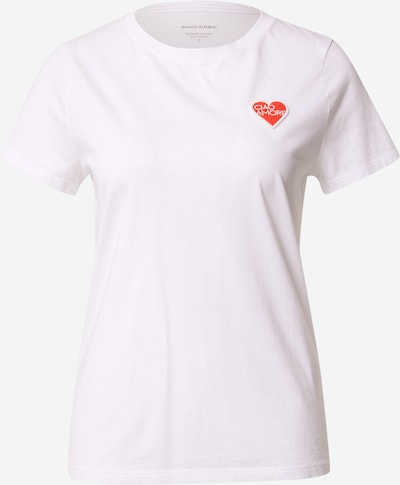 Banana Republic Shirt 'Ciao Amore' in rot / offwhite, Produktansicht