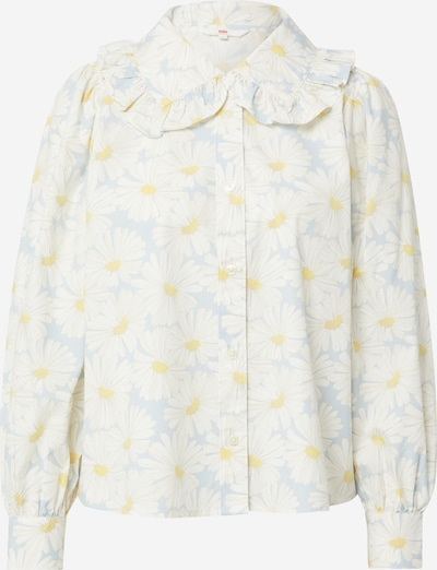 LEVI'S Bluse 'KARINA' i lyseblå / safran / naturhvit, Produktvisning