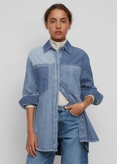 Marc O'Polo DENIM Shirt in blau / hellblau / dunkelblau, Modelansicht