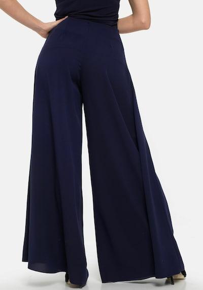 Wisell Palazzohose Weite Hose aus Chiffon in navy, Modelansicht