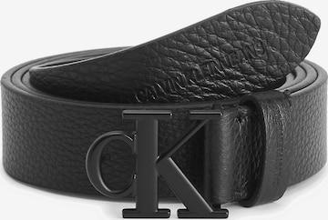 Calvin Klein Jeans Plus Size Leather Belt ' ' in Schwarz