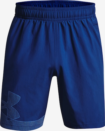 UNDER ARMOUR Sporthose 'Woven' in Blau