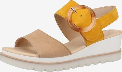 GABOR Sandalen in beige / gelb, Produktansicht