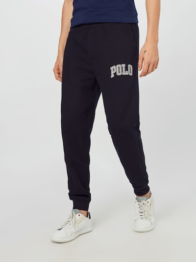 POLO RALPH LAUREN Trousers in black / white, View model