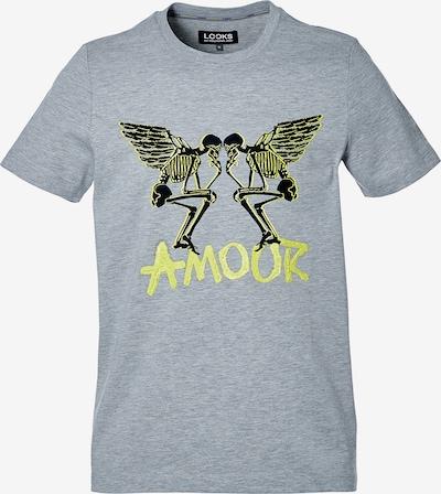 LOOKS by Wolfgang Joop T-Shirt ' Amour ' in neongelb / graumeliert, Produktansicht