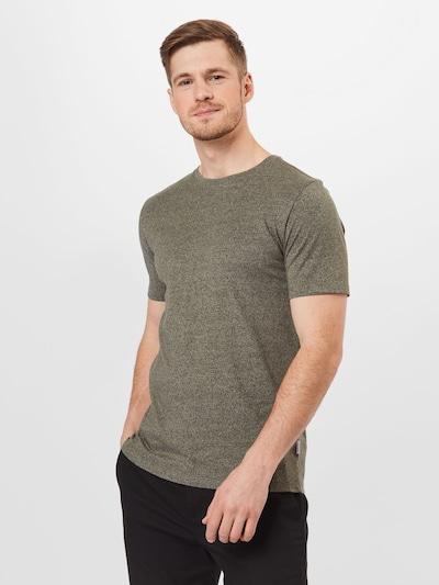 Lindbergh Тениска 'Mouliné' в Каки / тъмнозелено: Изглед отпред