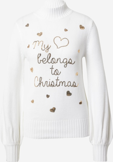 Fashion Union Sweater 'My Heart Belongs To Christmas' in pink / white, Item view