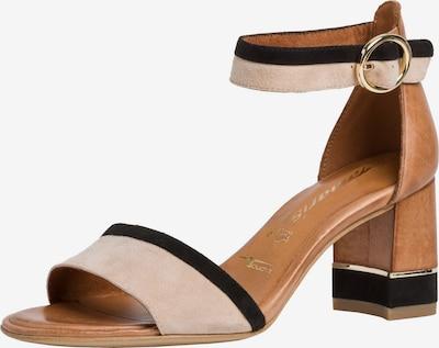 TAMARIS Sandalette in braun / puder / schwarz, Produktansicht