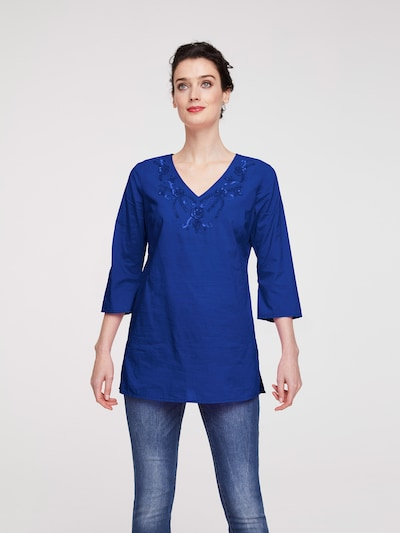 heine Tunika in royalblau, Modelansicht