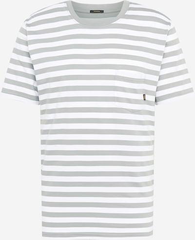 DENHAM Tričko 'TROY BRETON' - šedá / bílá, Produkt