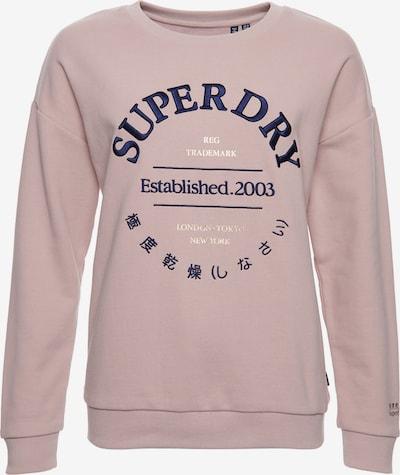 Superdry Sweatshirt in dunkelblau / rosa / weiß, Produktansicht