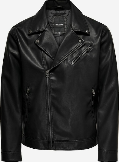 Only & Sons Tussenjas in de kleur Zwart, Productweergave