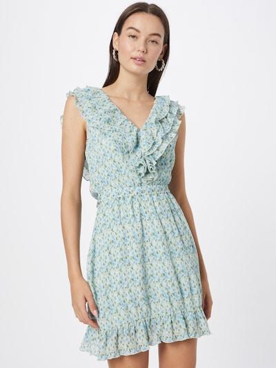 NA-KD Kleid 'Anika Teller' in opal / hellblau / oliv, Modelansicht