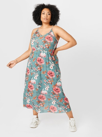 ABOUT YOU Curvy Kleid 'Shannon' in blau / rosa: Frontalansicht